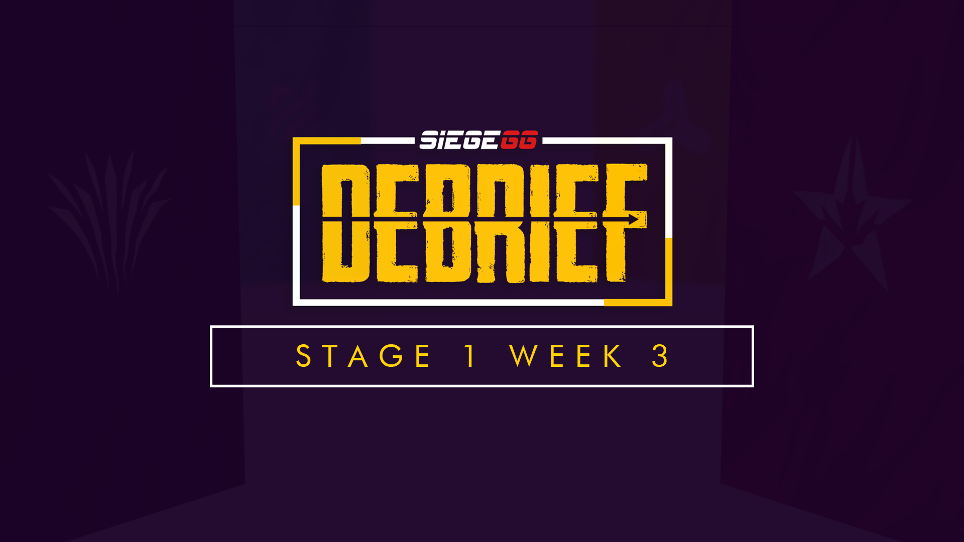 SiegeGG Debrief | James Bond, Ace Thievery, and R6 Events