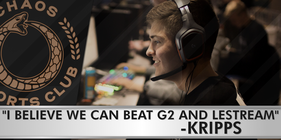 """Kripps: """"I believe we can beat G2 and LeStream"""""""
